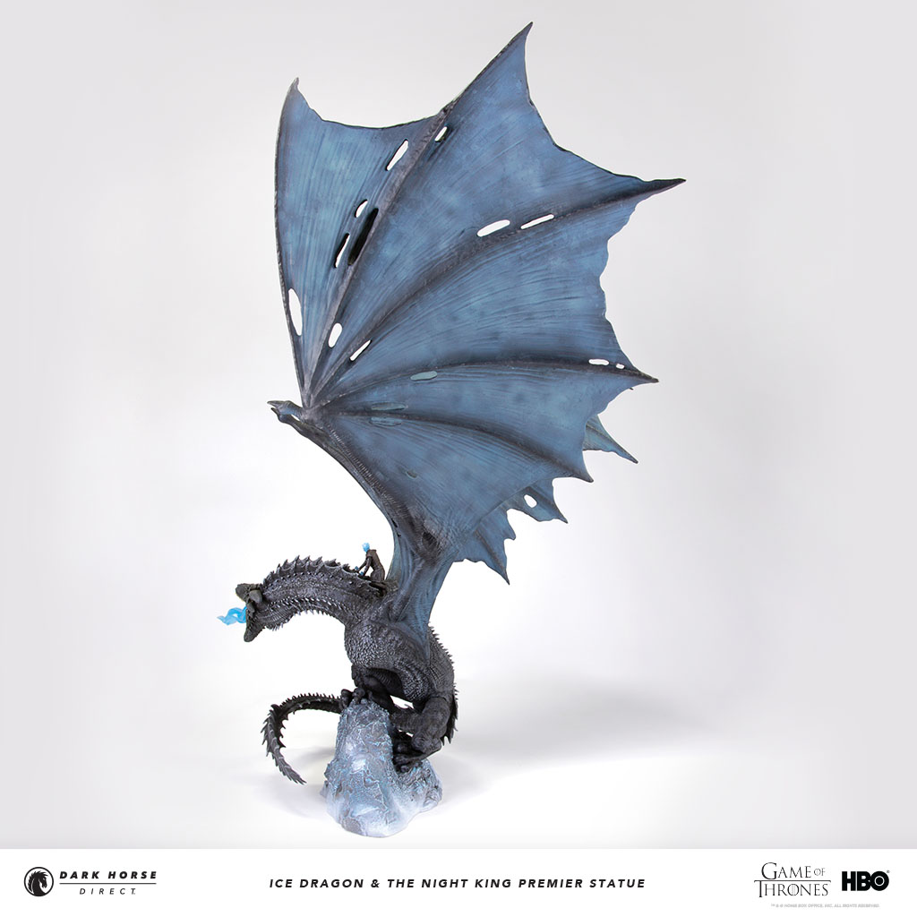 Game of Thrones - Viserion Ice Dragon and Night King Statue