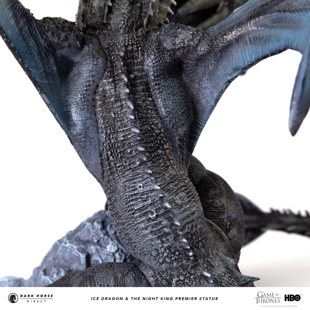 Statuette Night King: Viserion Ice Dragon And Night King