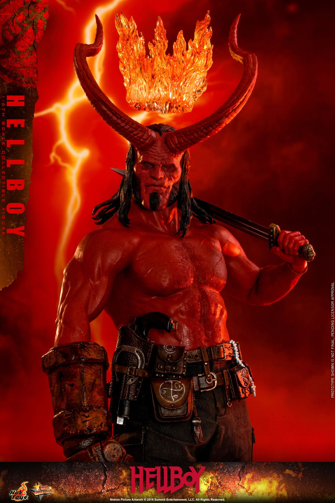 Hot Toys 1/6 Scale Hellboy (2019) Figure Revealed