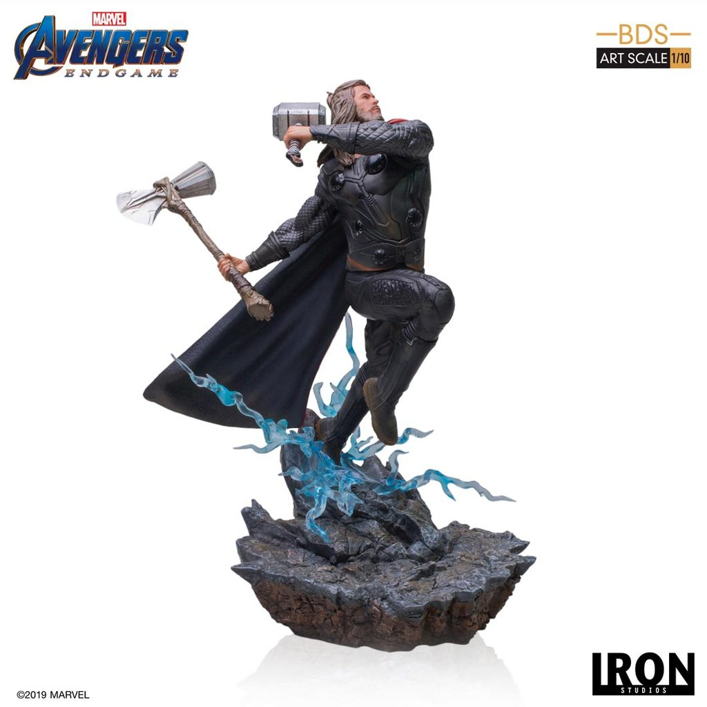 Avengers: Endgame - Thor Battle Diorama Statue by Iron Studios - The