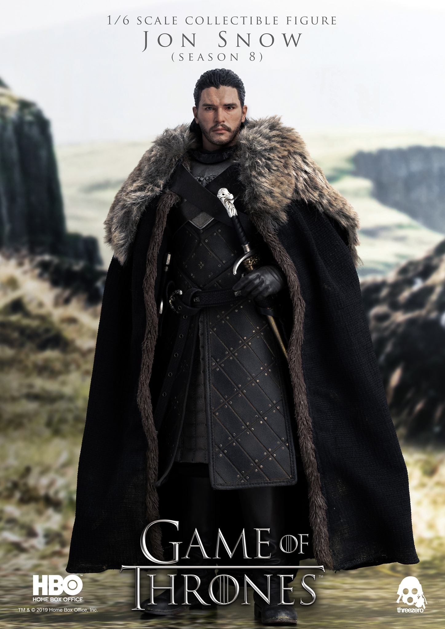Game of Thrones - Jon Snow (Season 8) 1/6 Scale Figure by ThreeZero