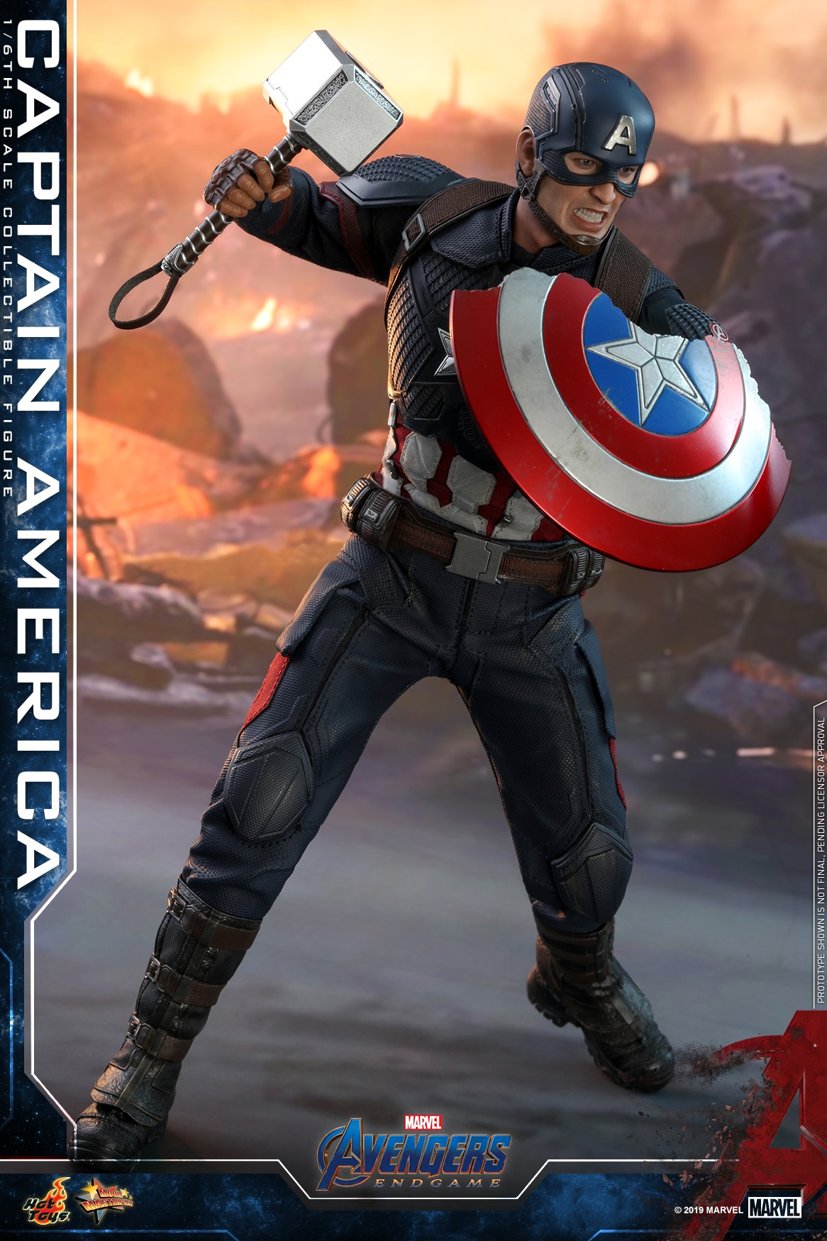 Avengers Endgame Captain America 16 Scale Figure Update From Hot