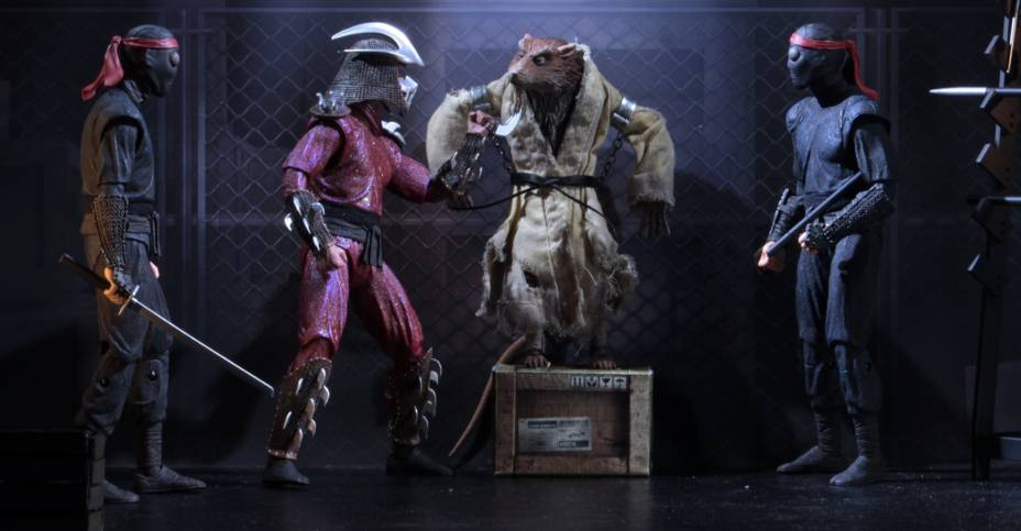 "SDCC 2019 NECA TMNT The Capture Of Splinter 4-Pack 7/"" Figure Set IN HAND"