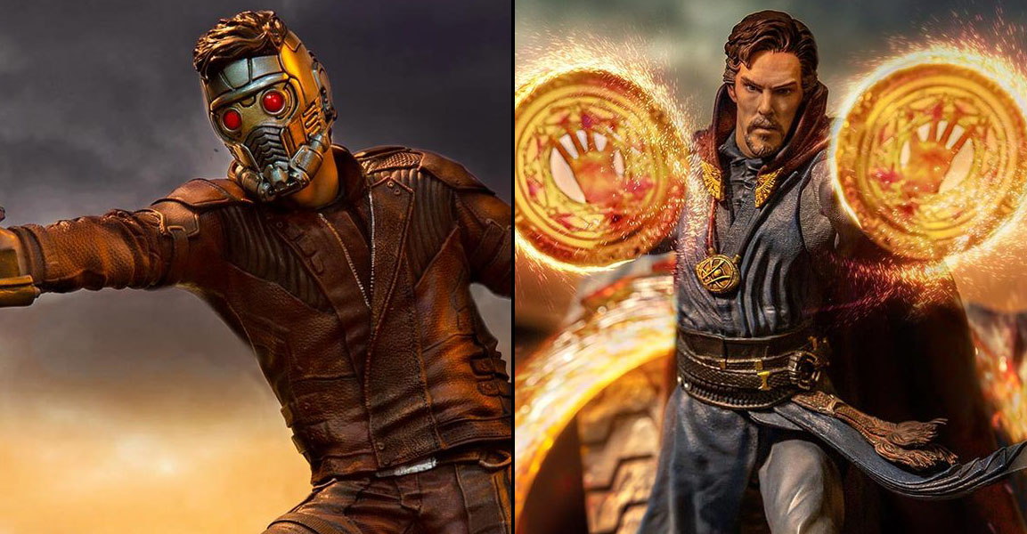 Avengers Endgame Star Lord And Dr Strange Statues By Iron