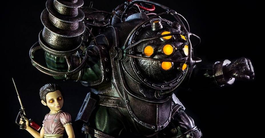 Bioshock Big Daddy Bouncer EX Statue 035