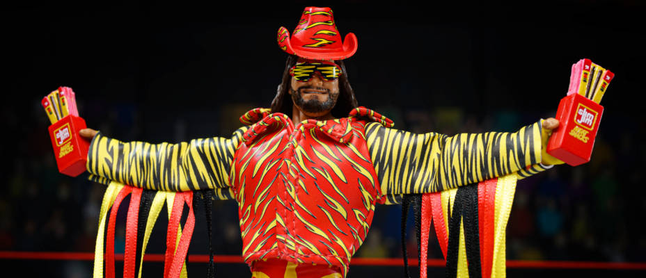 Slim Jim Themed Macho Man Randy Savage Action Figure - SDCC Mattel WWE Elite Exclusive In-Hand Gallery