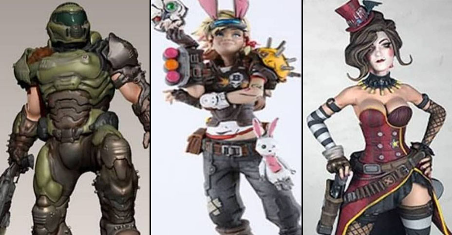 New Doom and Borderlands Statues from Chronicle Collectibles