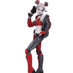 HARLEY QUINN RED WHITE BLACK HARLEY QUINN BY JOSHUA MIDDLETON STATUE