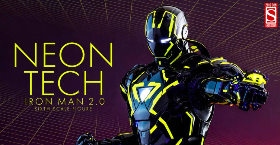 Hot Toys Neon Tech Iron Man 2.0 Sixth Scale Figure