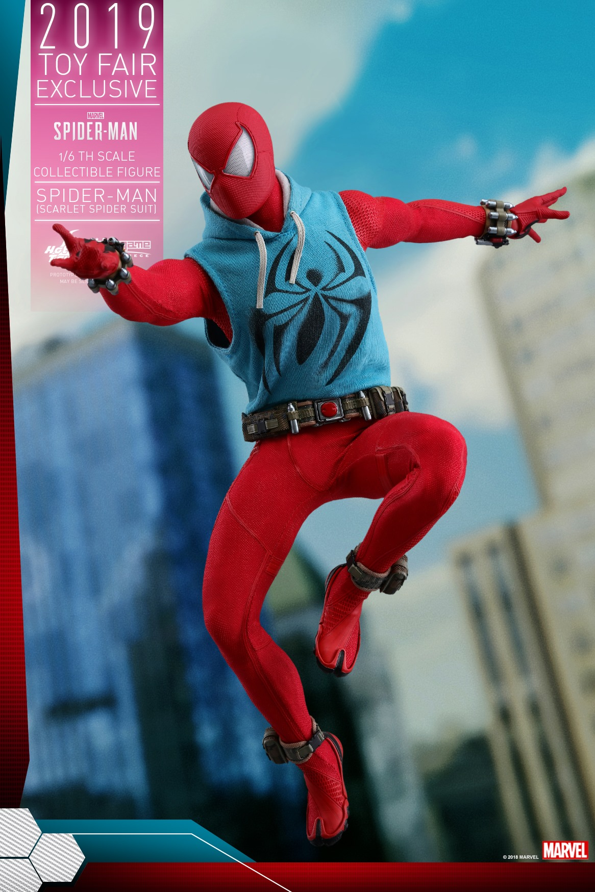 Spider-Man Video Game – Scarlet Spider Suit 1/6 Scale Figure by Hot