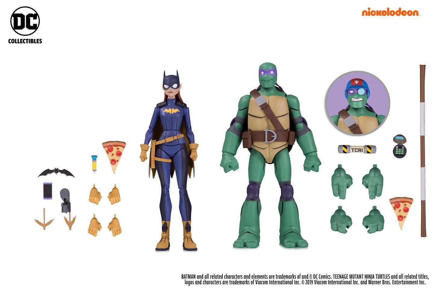 Batman vs TMNT Donnie and Batgirl