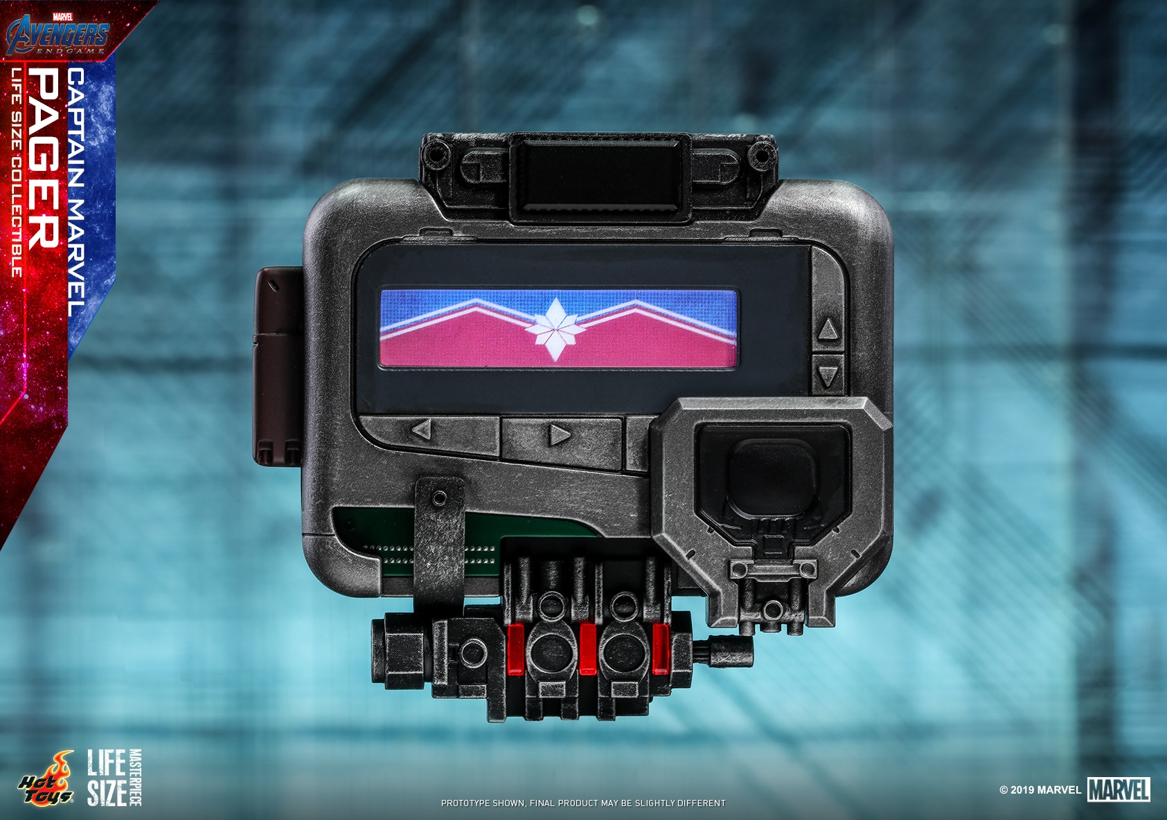 Life Size Captain Marvel Pager Collectible by Hot Toys - The ...