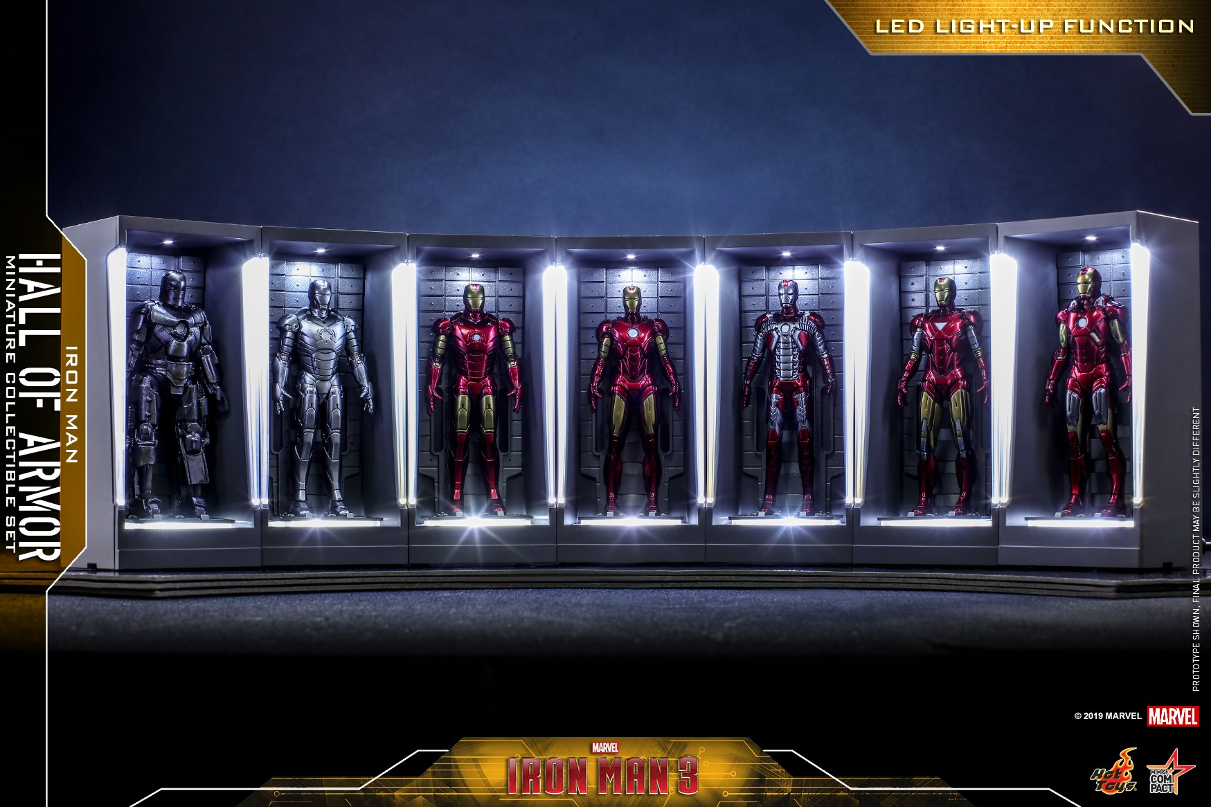 Hot Toys Iron Man Hall of Armor Minis 003