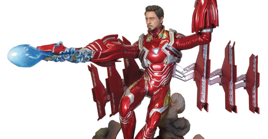 MARVEL GALLERY AVENGERS 3 UNMASKED IRON MAN RELEASED 1