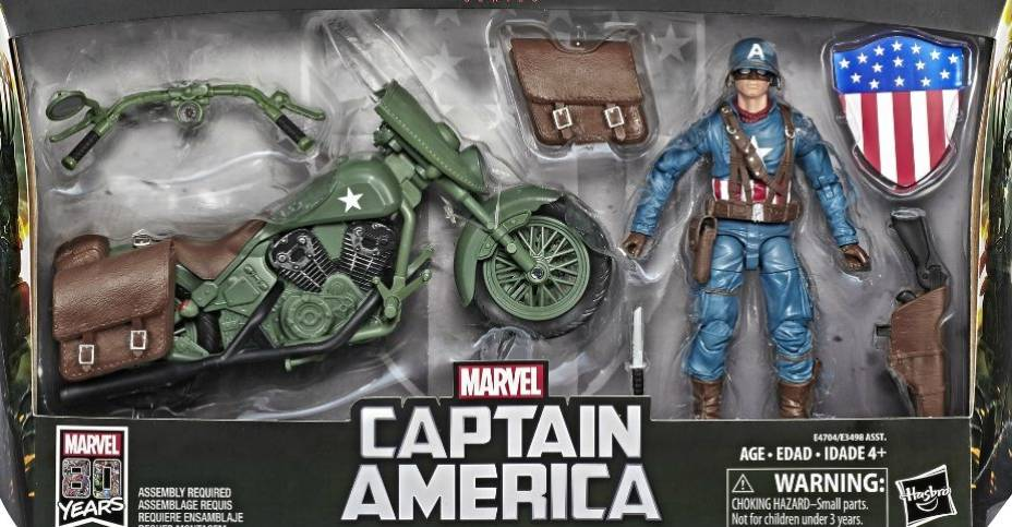 Marvel Legends Captain America and Motorcycle 001