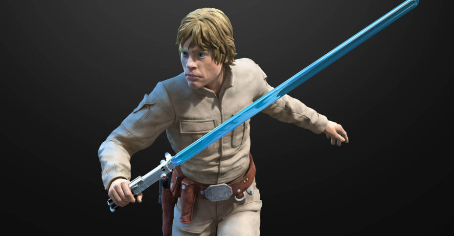 STAR WARS THE BLACK SERIES HYPERREAL LUKE SKYWALKER oop 2