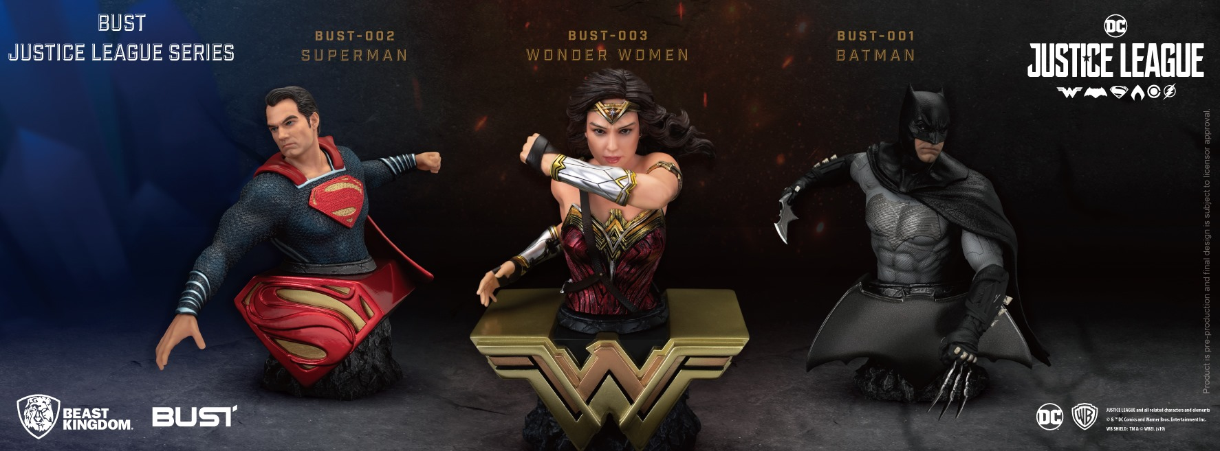 Beast Kingdom Justice League Busts 001