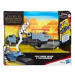 STAR WARS GALAXY OF ADVENTURES FIRST ORDER DRIVER AND TREADSPEEDER in pck