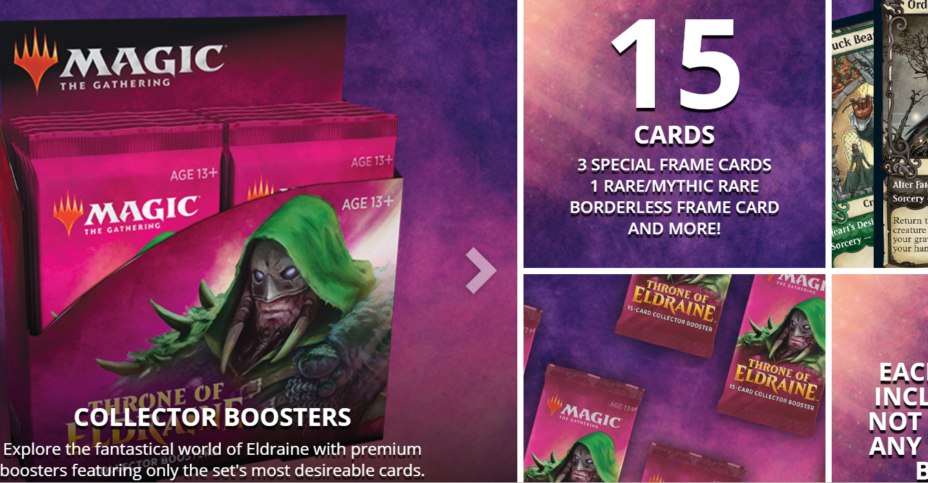 Throne of Eldraine Collector booster box info
