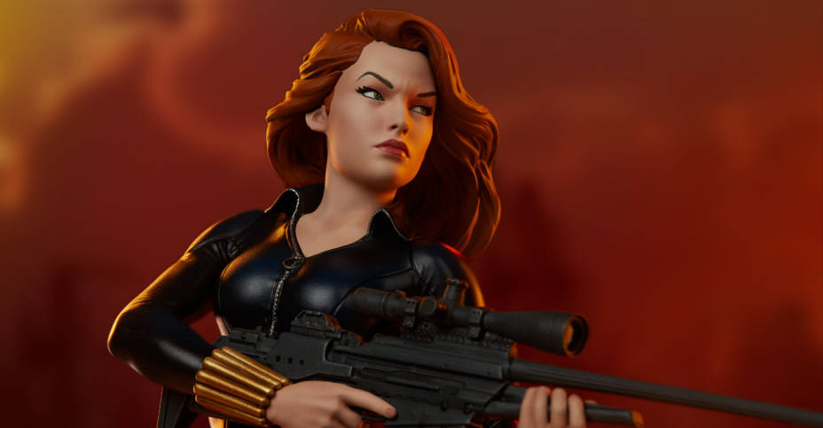 Sideshow Black Widow Statue 002