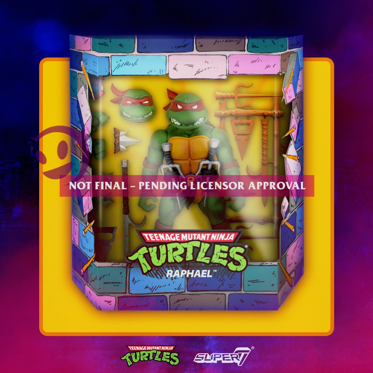 TMNT Super7 Raphael Packaging Preview