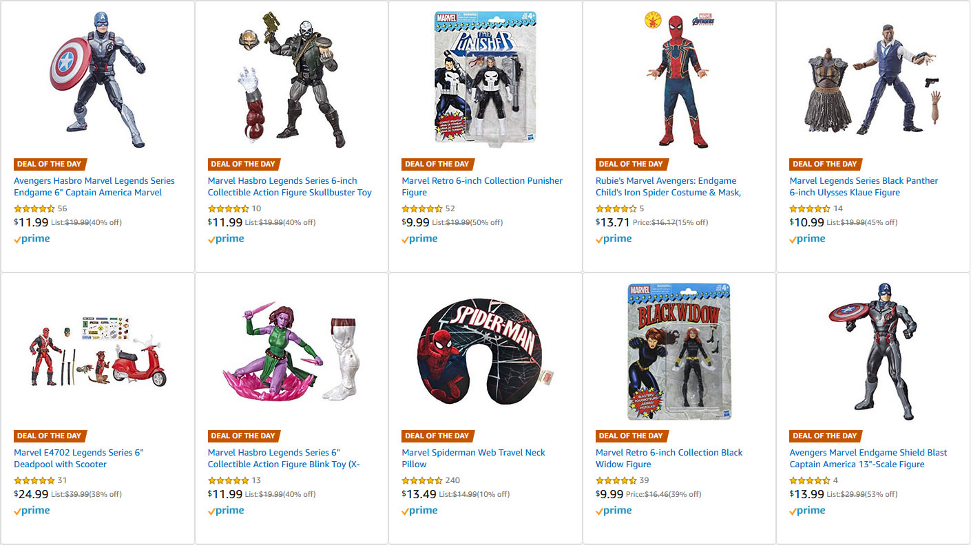 Amazon Marvel Deals 11 10 19