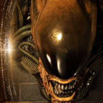 Dog Alien Wall Trophy Closed Mouth 016