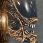 Dog Alien Wall Trophy Closed Mouth 020