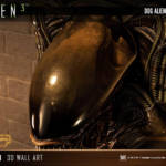 Dog Alien Wall Trophy Closed Mouth 021