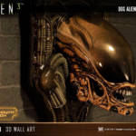 Dog Alien Wall Trophy Closed Mouth 022