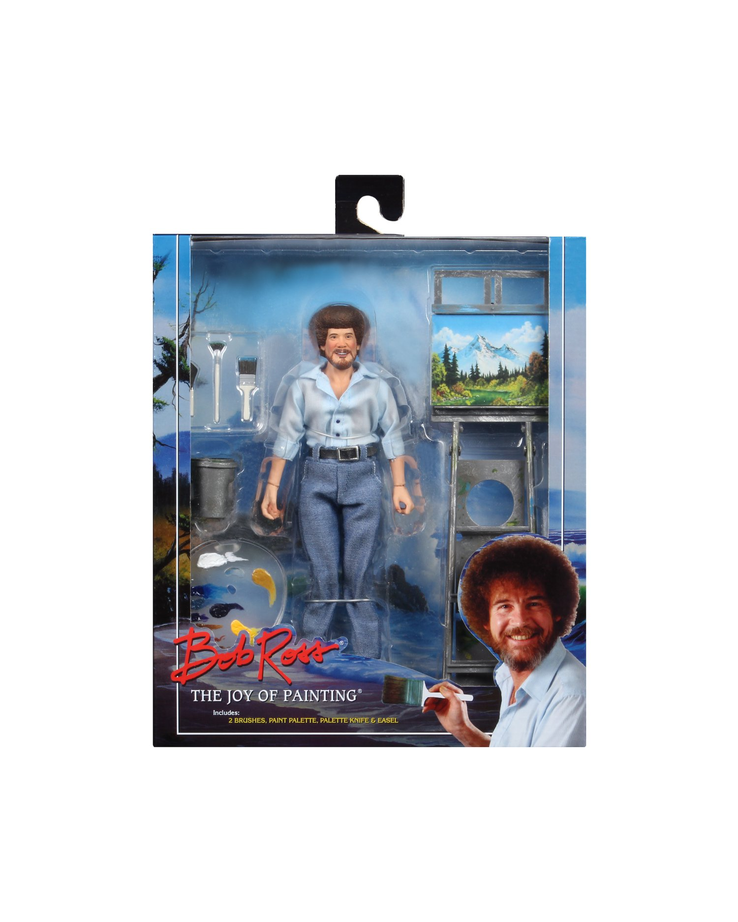 "8"" Clothed Action Figure NECA Bob Ross  Bob Ross"