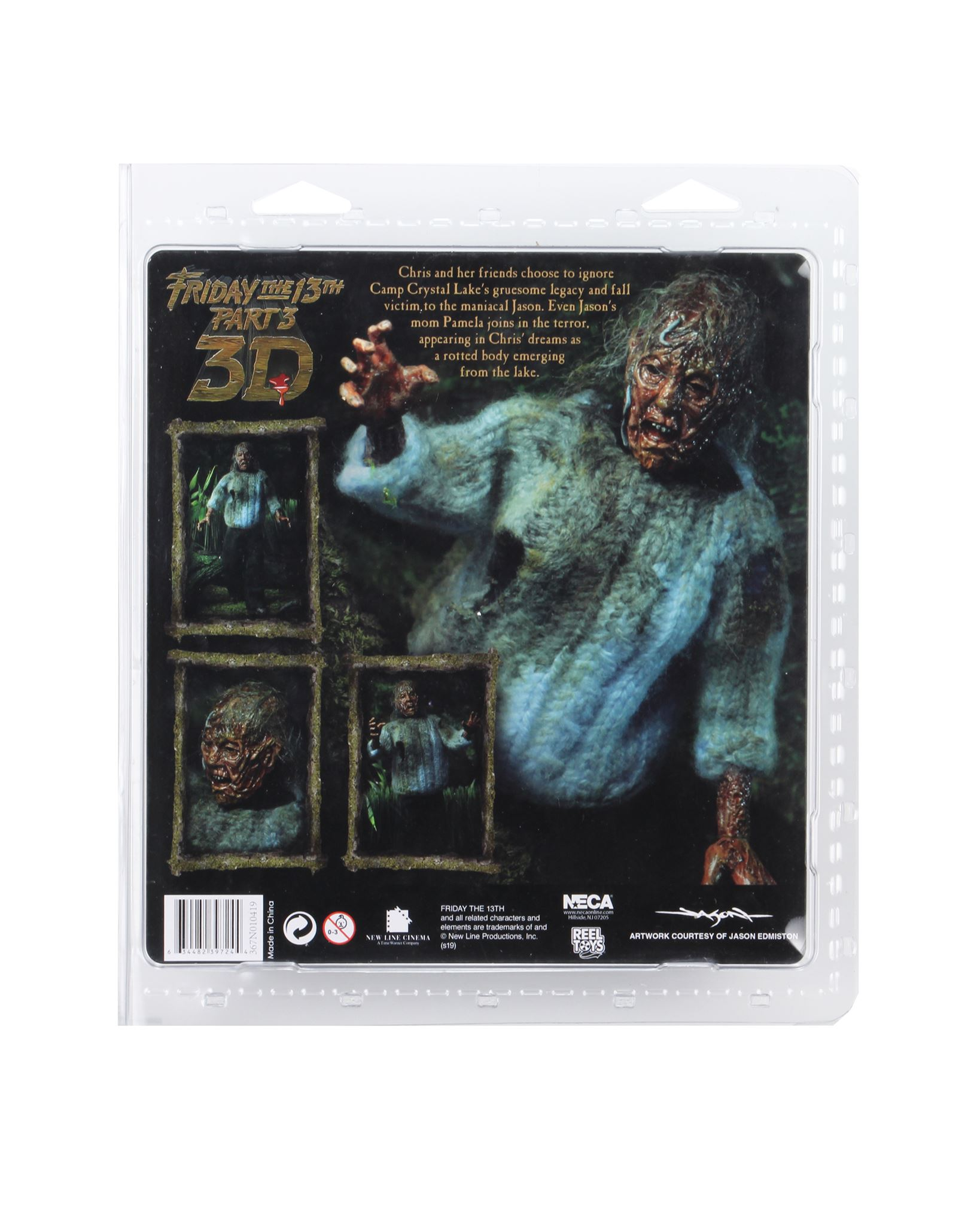 NECA Friday The 13th Corpse Pamela Packaging 002