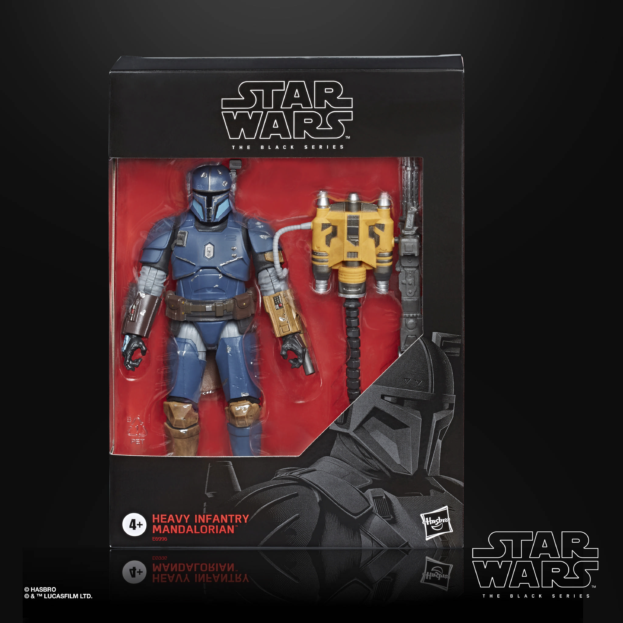 STAR WARS THE BLACK SERIES 6 INCH HEAVY INFANTRY MANDALORIAN Figure in pck