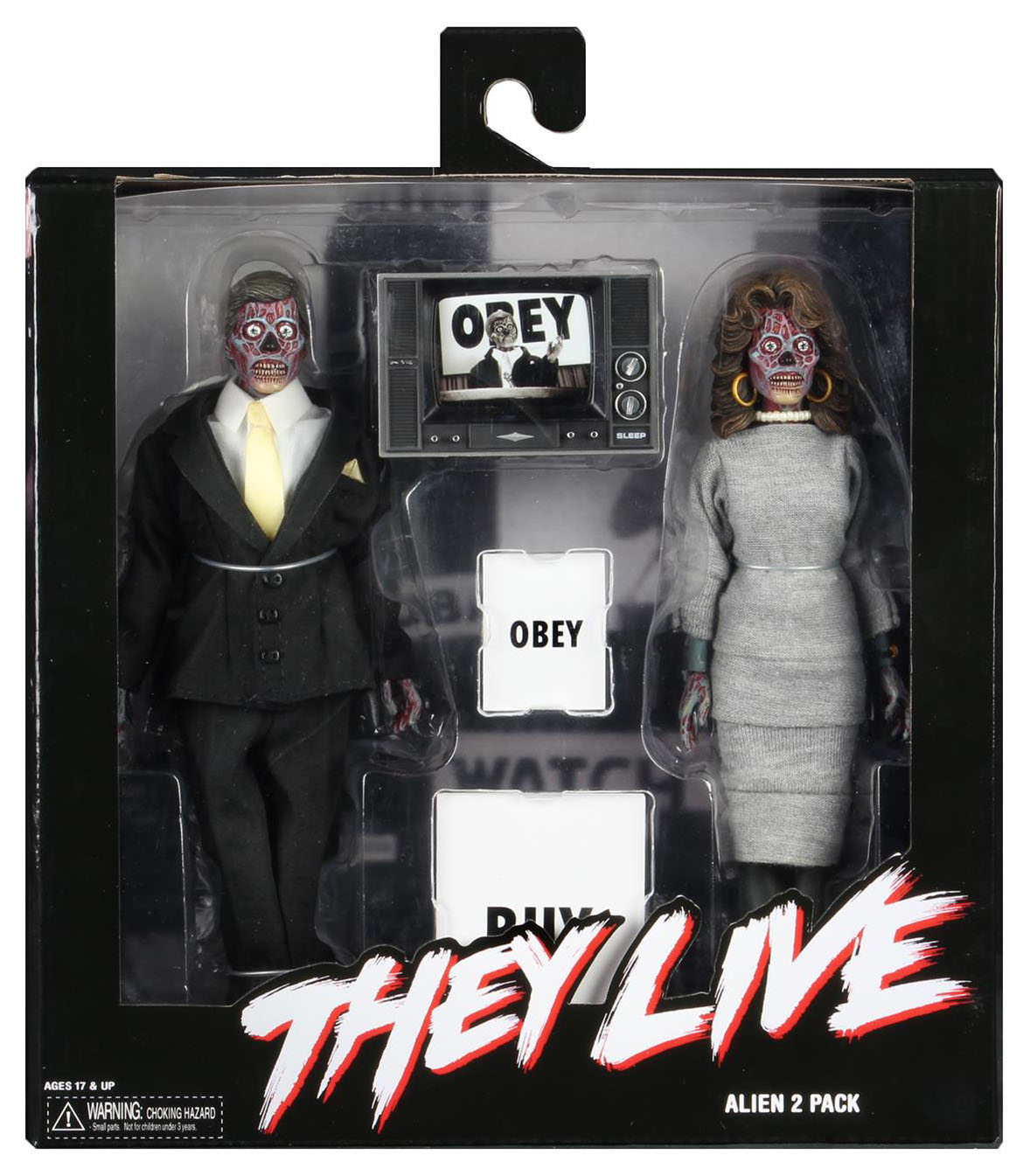 "MALE ALIEN Neca THEY LIVE John Carpenter OBEY 2019 8/"" inch CLOTHED FIGURE"