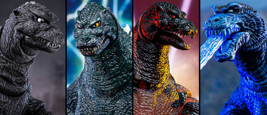 NECA Godzilla 1954, 1994, 1995, and 2001 Boxed Reissues - Toyark Photo Shoot