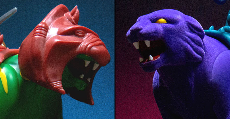Battle Cat and Panthor MOTU ReAction Figures