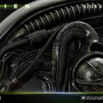 Prime 1 Big Chap Alien 3D Wall Art and DX 077