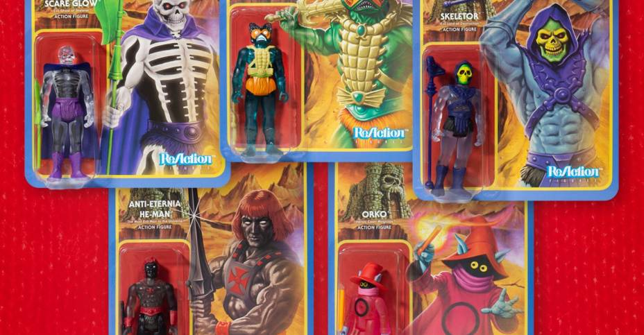 Super7 MOTU Clear ReAction Figures