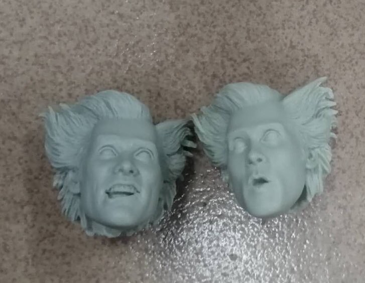 Ace Ventura Head Sculpts