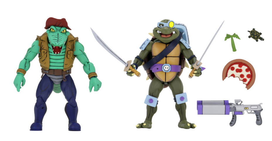 NECA TMNT Leatherhead and Slash
