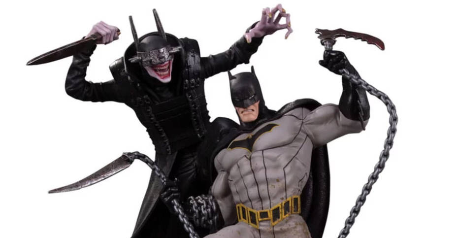 THE BATMAN WHO LAUGHS VS BATMAN BATTLE STATUE