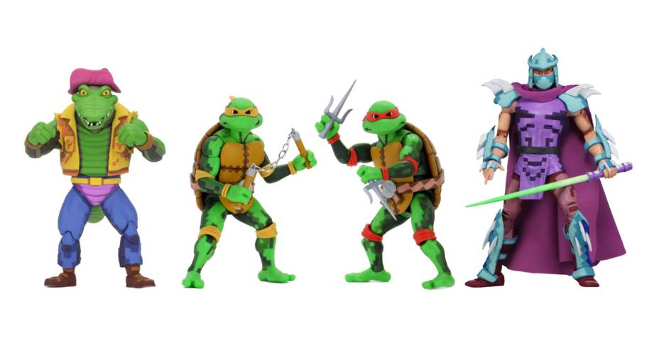 TMNT Turtles In Time Wave 2 Figures 001