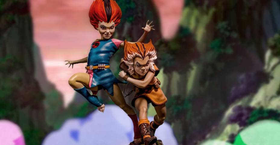 Thundercats Wily Kit and Wily Kat Statue 001