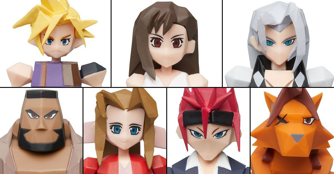 Square Enix FF7 Polygon Figures