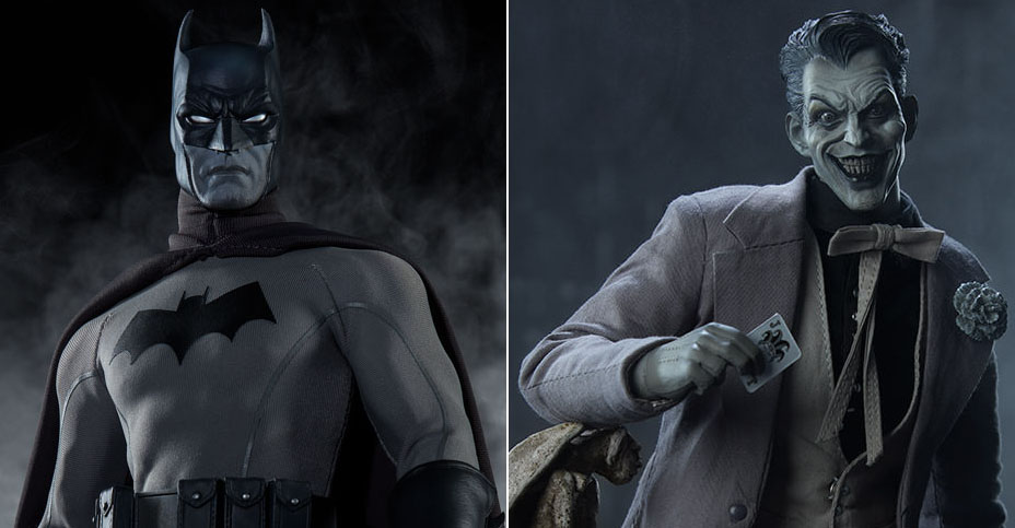 z Batman and Joker Noir Versions
