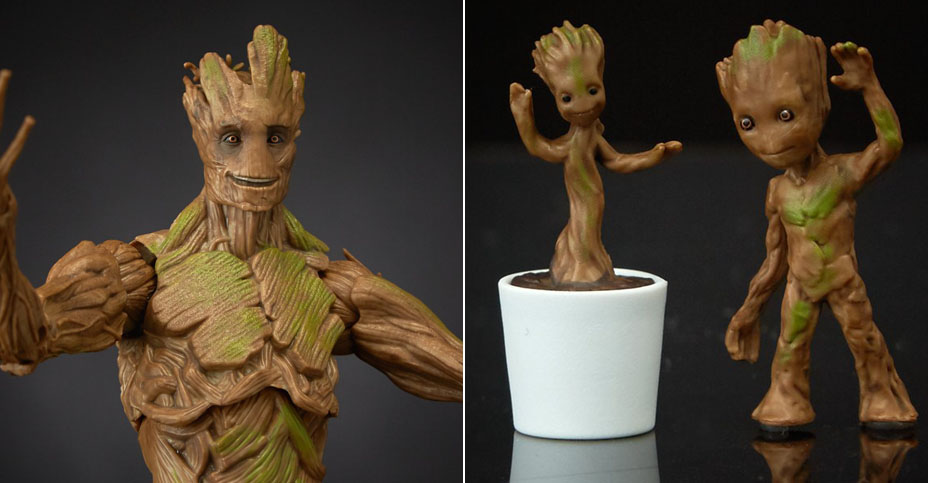 Marvel Legends Groot Evolution 008