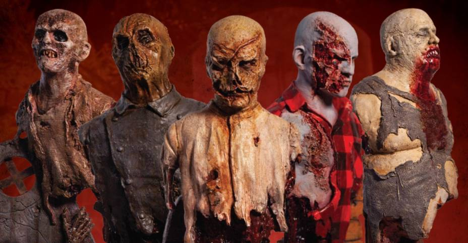 Assorted Zombie Busts Trick or Treat Studios