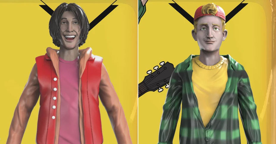 Bil and Ted Bogus Journey Figures