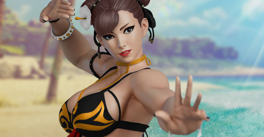 PCS Chun Li P2 Battle Statue 002