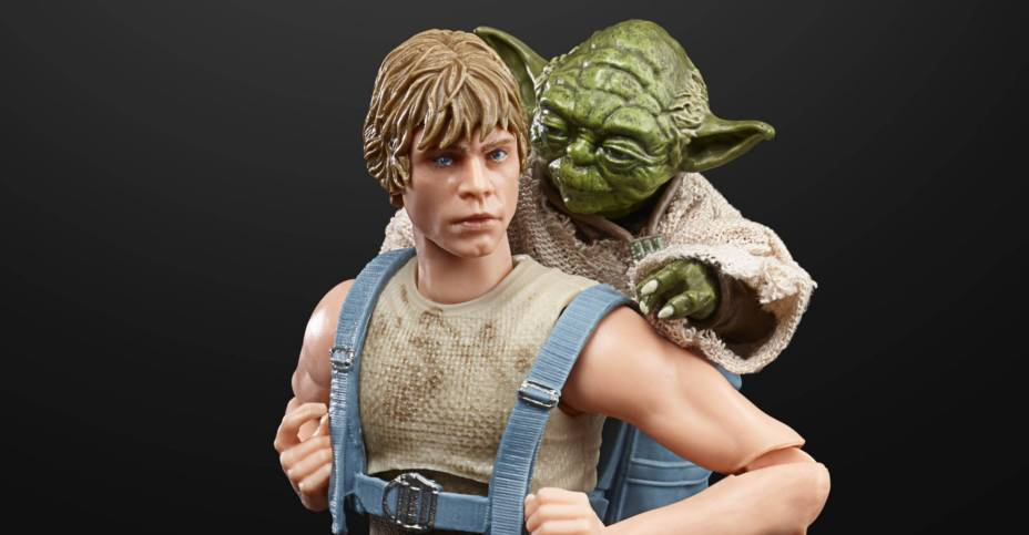 STAR WARS THE BLACK SERIES 6 INCH LUKE SKYWALKER AND YODA JEDI TRAINING DELUXE Figures oop 4